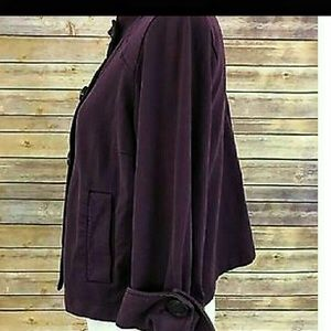 """CAbi Jackets & Coats - CAbi """"Terry Topper"""" Doubl Breasted Plum Jacket"""